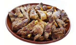 Hombre Lobo Grill: Menú para 2 o 4 con ensalada a compartir, parrillada de ibéricos, postre y bebida desde 19,95 € en Hombre Lobo Grill
