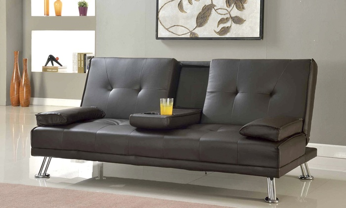 Indiana three seater sofa bed groupon for Sofa bed groupon