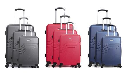 1 ou 3 valises American Travel, taille cabine, week end et grand format, coloris au choix