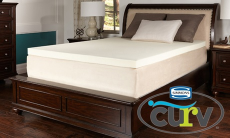 "Simmons Curv 3"" Memory-Foam Mattress Topper 185cd0a0-1caa-11e8-b385-52540562940f"
