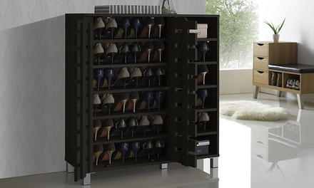 Shirley 2-Door Shoe Cabinet with Open Shelves
