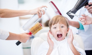 Illusions Beauty Salon: Kids' Haircut with Optional Adults' Haircut and Style at Illusions Beauty Salon (Up to 71% Off)