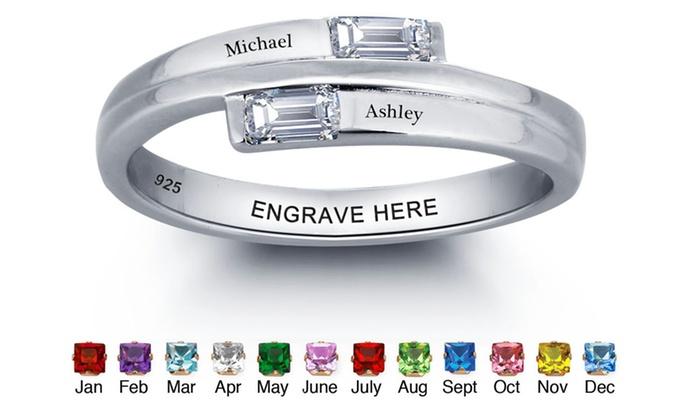 Custom Birthstone Promise Rings | Groupon