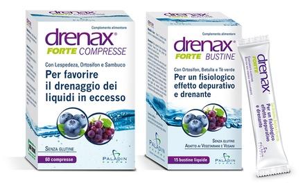 Fino a 90 bustine o 360 compresse di Drenax Forte, integratore a effetto drenante