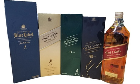 Johnnie Walker Whisky at Discount Wine & Spirits (Up to 21% Off). Eight Options Available.