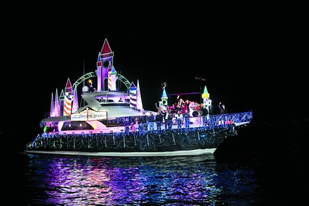 Christmas Lights Boat Cruise from Newport Fun Charters (Up to 76% Off). Three Options Available.