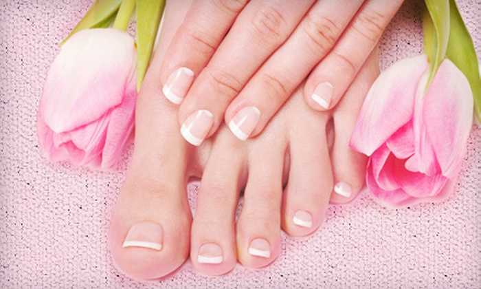 Minu's Nails Spa & Threading - Gramercy Park: One or Three Mani-Pedis or Shellac Manicures with Regular Pedicures at Minu's Nails Spa & Threading (Up to 56% Off)