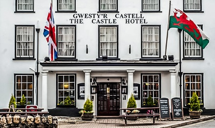 Llandovery: Better or Best Room for Two with Breakfast and Bottle of Prosecco at The Castle Hotel