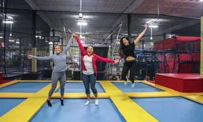 image for Unlimited Trampoline Jump Passes with Socks for One, Two, or Four at Planet Air <strong>Sports</strong> Doral (Up to 46% Off)