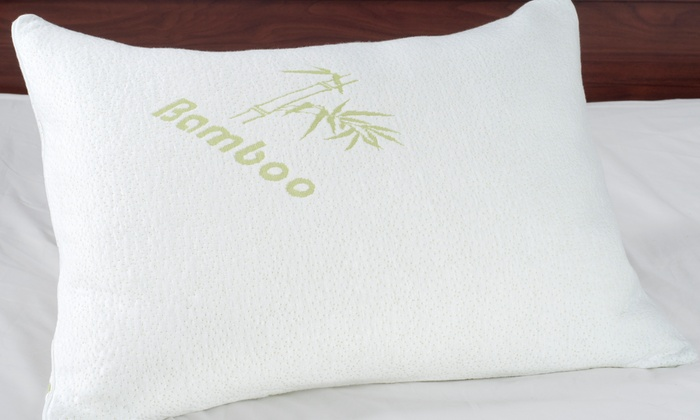 remedy bamboo memory foam pillow remedy bamboo memory foam pillow 1pk or 2pk