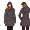 Women's Wool Hooded Toggle Coat (Size L)