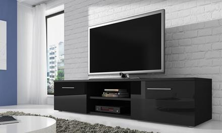 meuble tv laqu groupon. Black Bedroom Furniture Sets. Home Design Ideas