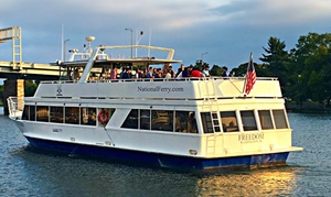55% Off Happy Hour Cruise at National Ferry Corporation at National Ferry Corporation, plus 6.0% Cash Back from Ebates.