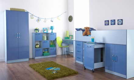 Kids' Two-Toned Gloss Bedroom Furniture, Two Colours