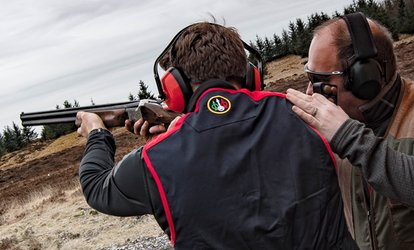 image for Clay Pigeon Shooting with 25, 50 or 100 Clays and Introduction Lesson at Central Scotland Shooting School