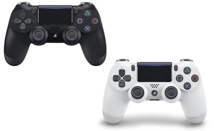 Manette Sony Dual Shock 4 V2 pour PS4, en noir ou blanc reconditionnée à neuf, livraison offerte