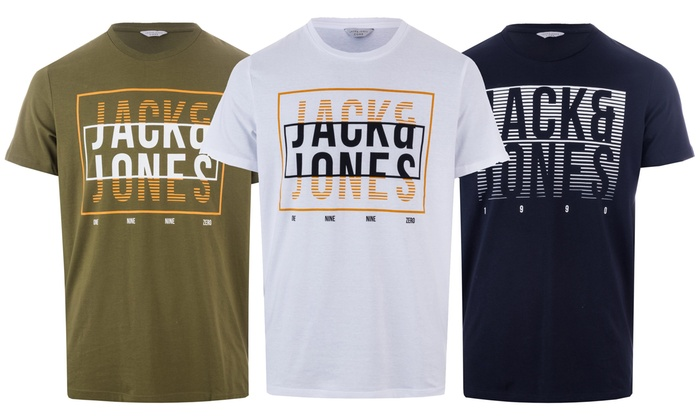 Jack & Jones Men's Com T-Shirt from £5.99