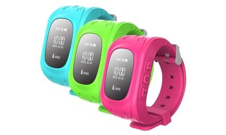 Excelvan Kids Smartwatch Q50 mit GPS-Tracker und SOS-Funktion in Pink, Blau oder Grün inkl. Versand
