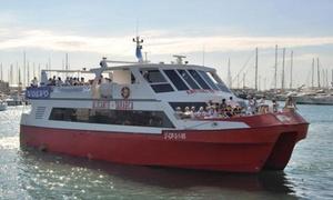 Cruceros Kontiki: Viaje de ida y vuelta en barco de Alicante a la isla de Tabarca para 1 o 2 personas desde 15,90 € con Cruceros Kontiki