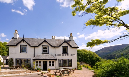 Scottish Highlands: 1 to 3 Nights with Breakfast, Bubbly and Late CheckOut; with Option for Dinner at Loch Leven Hotel