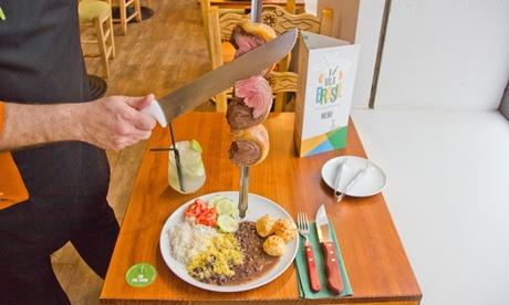 Menú rodizio con hasta 14 tipos de carne, buffet libre y bebida para 2 o 4 desde 34,95 € en Vila Brasil