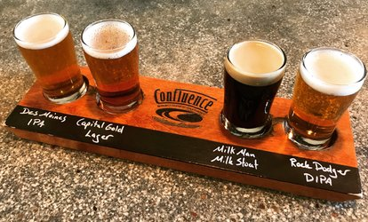 image for Brewery Package for Two or Four at Confluence Brewing Company (Up to 39% Off)