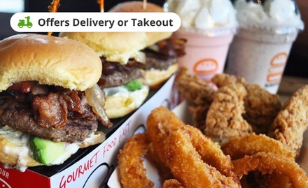 groupon.com - Food for Two or Four at Burgerim Omaha (Up to 25% Off). Two Options Available.