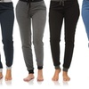 Coco Limon Long Solid Joggers in Regular and Plus Sizes