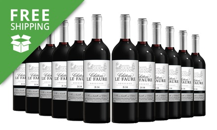 Free Shipping: $149 for a 12Bottle Case of Chateau Le Faure Don't Pay $359.88