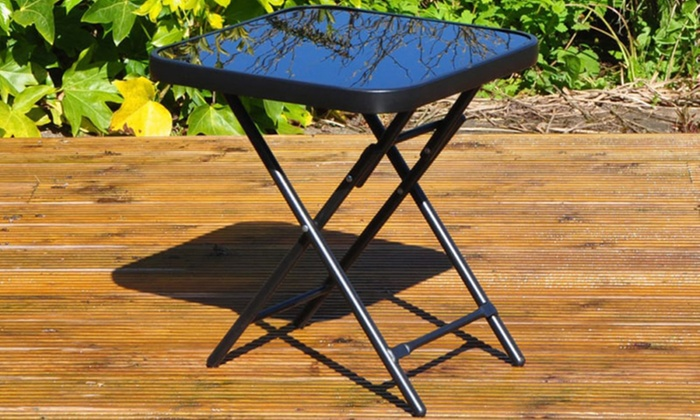 One or Two Kingfisher Black Folding Drinks Tables