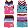 Girl's Bras and Matching Boyshorts Sets (6-Pack)
