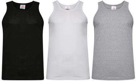 3er-Pack atmungsaktiver und weicher Tanktops aus 100% Baumwolle für Herren in der Farbe und Größe nach Wahl