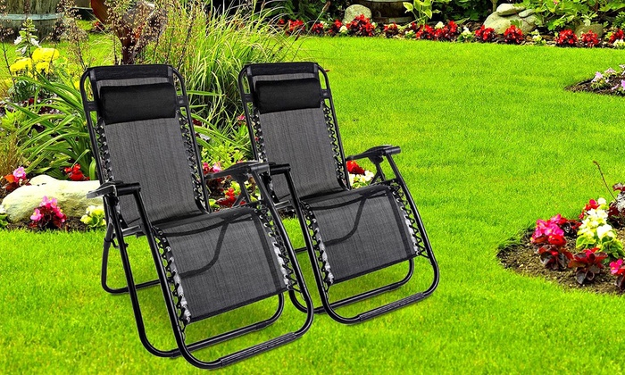 Two or Four Zero-Gravity Folding Chairs from £59.98