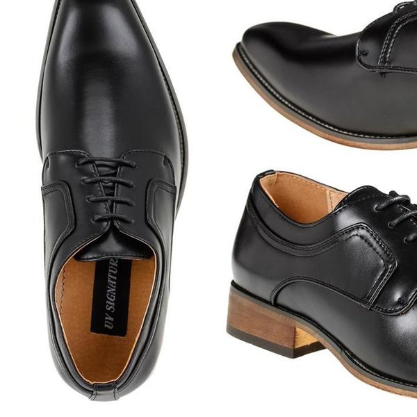 b498781274d Signature Men's Plain-Toe Lace-Up Dress Shoes