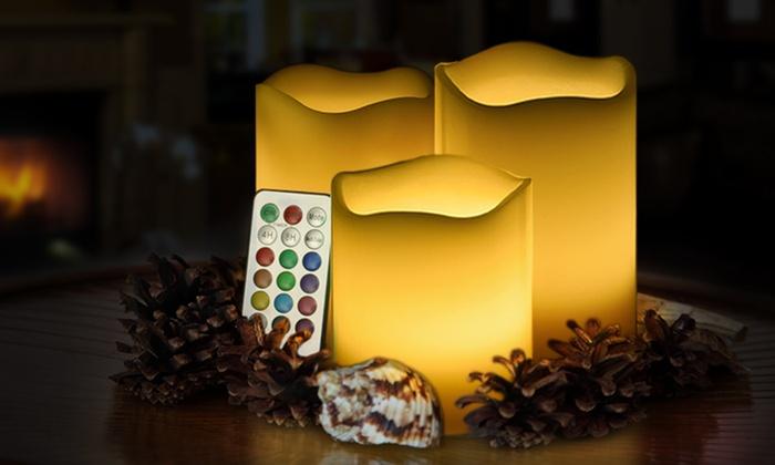 3er set led kerzen groupon goods. Black Bedroom Furniture Sets. Home Design Ideas