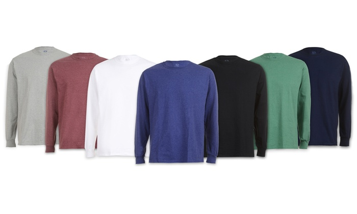 4cd170e274bc6 Fruit Of The Loom Men s Long-Sleeve Tee (6-Pack)