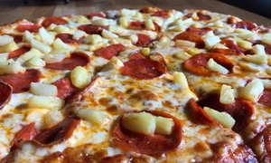 Round Table Pizza: Pizza at Round Table Pizza (Up to 50% Off). Two Options Available.