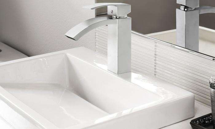 robinet de lavabo moderne groupon. Black Bedroom Furniture Sets. Home Design Ideas