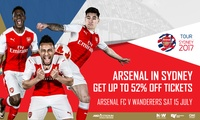 Arsenal FC v Western Sydney Wanderers Ticket Offer -  Starting from $19 at ANZ Stadium - 15 July 2017