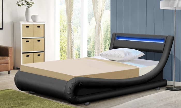 Barcelona LED Bed with Optional Mattress (£170)