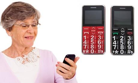 Teléfono móvil para mayores con marcaciónrápida