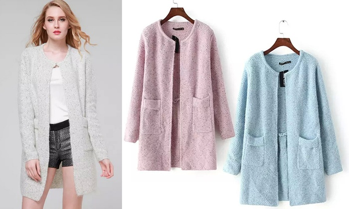 Ameec Shenzhen Technology Co: Women's Knee-Length Cardigan: One ($29) or Two ($49)