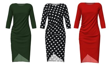 Vky&Co Women's Side-Ruched Wrap Dress. Plus Sizes Available.