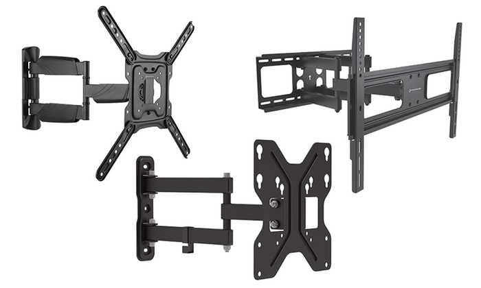 gforce full motion articulating wall mounts ranging from 23 55 groupon. Black Bedroom Furniture Sets. Home Design Ideas