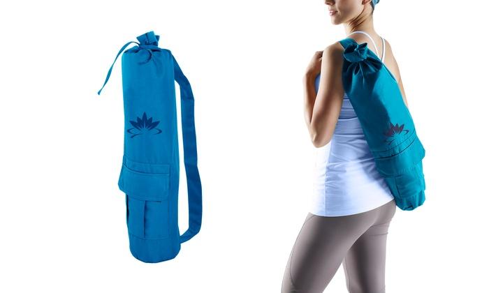 Up To 39 Off On Lotus Yoga Blue Yoga Mat Bag Groupon Goods