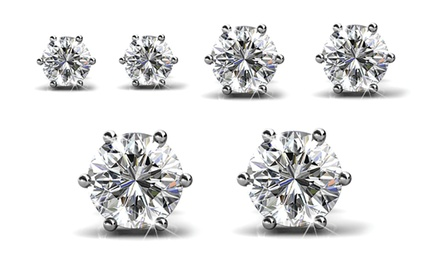 $19.95 for a Trinity Earrings Set Made with SWAROVSKI ELEMENTS Crystals (Don't Pay $123.63)