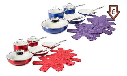 Tower 9Piece Pro Metallic Pan Set for £49.99 With Free Delivery