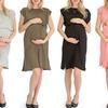 Lyss Loo Maternity Waist Tie Midi Dress