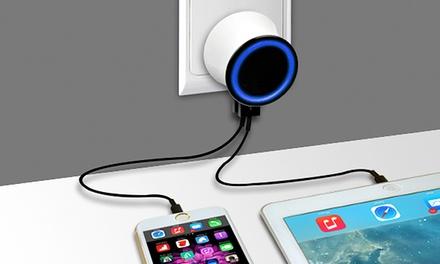 2 o 6 Apachie puertos de cargadores USB de pared para dispositivos electrónicos