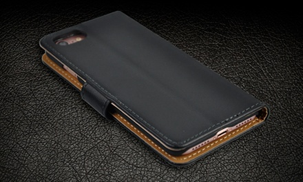 Funda y cartera de cuero para iPhone 6, 6S, 6+, 6S+, 7 y 7+